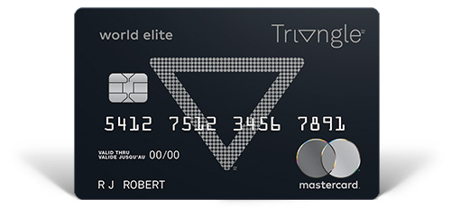 Triangle World Elite Mastercard - 5 cents per litre in CT Money on regular fuel and 7 cents per litre on premium fuel