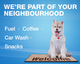 We're part of your neighbourhood. Fuel, coffee, car wash, snacks.