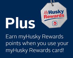 Earn myHusky Rewards points when you use your myHusky Rewards card.